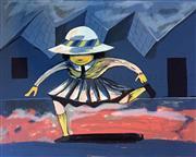 Sale 8715A - Lot 5003 - Charles Blackman (1928 - 2018) - Schoolgirl Jumping 75 x 105.5cm (sheet)