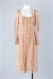 Sale 8782A - Lot 173 - A Dolce & Gabbana nude lace evening dress with silk slip, approx size 8-10