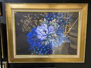 Sale 8978 - Lot 2060 - Artist Unknown Still Life in Blues and Gold, 2003 94 x 124cm (frame) signed and dated lower right