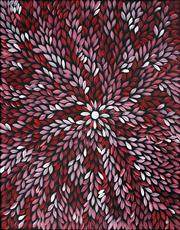 Sale 9009A - Lot 5076 - Sonia Daniels - Bush Leaves 57 x 48 cm (stretched and ready to hang)