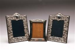 Sale 9122 - Lot 88 - Pair of Hallmarked Sterling Silver Picture Frames And Another (frame sizes - 23x17cm)