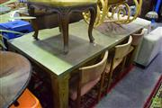 Sale 8532 - Lot 1031 - Industrial Style Dining Table with Zinc Top