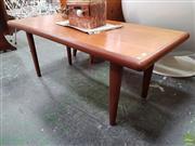 Sale 8625 - Lot 1083 - Good Danish Teak Coffee Table (H: 51 W: 124 D: 57cm)