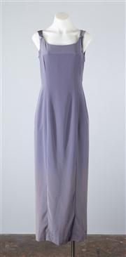 Sale 8685F - Lot 57 - A Jones New York Evening lavender column dress with contrasting satin back, US size 6