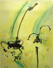 Sale 8715A - Lot 5004 - John Olsen (1928 - ) - Big Frog, Little Frog 112 x 93.5cm