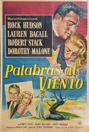 Sale 8741 - Lot 1044 - Vintage Movie Poster Palabras al Viento (Written on the Wind) , chromolithograph, 108.5 x 73cm, published by Industrie Argentina,...