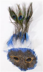 Sale 9003 - Lot 49 - Mardi Gras mask with feathered decoration