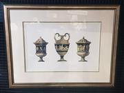 Sale 9053 - Lot 2029 - Framed C19th engraving of 3 Renaissance Urns, 75 x 97 cm (frame)