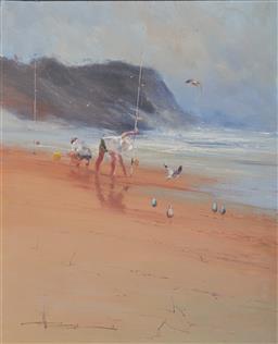 Sale 9116 - Lot 567 - Robert Hagan (1947 - ) Pippi Bill oil on canvas 75 x 60 cm (frame : 88 x 72 x 4 cm) signed lower left