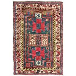 Sale 9124C - Lot 51 - Antique Caucasian Kazak, C1930, 130x190cm, Handspun Wool