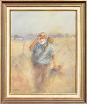 Sale 8309A - Lot 83 - Ray Dobrich (XX) - Along the Dusty Track 49.5 x 39.5cm