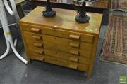 Sale 8398 - Lot 1056 - Oak Chest of Drawers