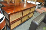 Sale 8431 - Lot 1089 - Modern Sideboard with Wicker Drawers