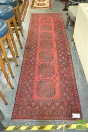 Sale 8440 - Lot 1025 - Handknotted Red Tone Turkoman Woollen Runner (81x280)