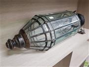 Sale 8637 - Lot 1074 - Leadlight Hanging Lantern