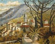 Sale 8704A - Lot 5092 - Jeanette Stedman (1918 - 2001) - Hills Beyond Rome 60.5 x 75.5cm