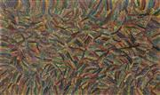 Sale 8723A - Lot 5032 - Jennifer Purvis Ngwarai (1974 - ) - Kame (Yam Seed Dreaming) 150 x 90cm (stretched and ready to hang)