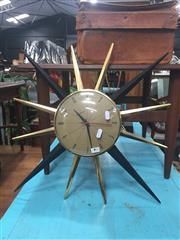 Sale 8822 - Lot 1728 - Star Form Wall Clock