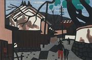 Sale 8870A - Lot 584 - Kiyoshi Saito (1907 - 1997) - Town Scene 25.5 x 38.5 cm