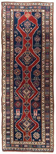 Sale 8911C - Lot 57 - Caucasian Antique Kazak, Circa 1930,142x420cm, Handspun Wool
