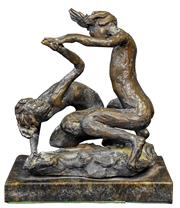 Sale 9015J - Lot 14 - Lenore Boyd - Two figures Height 18cm