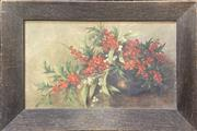 Sale 9011 - Lot 2026 - Artist Unknown Still Life - Wildberries, oil on board, frame: 29 x 43 cm, signed lower right -