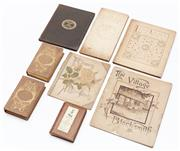 Sale 9080W - Lot 34 - A collection of miniature books and pamphlets pertaining to Poetry, love, flowers and thoughtfulness to include Milton in two vols,...