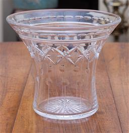 Sale 9190H - Lot 76 - An English Stuart Art Deco hand cut lead crystal vase C: 1930s