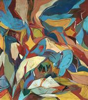 Sale 8773 - Lot 530 - Nancy Borlase (1914 - 2006) - Journey Around the Bay, 1983 121 x 106 cm