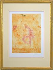 Sale 8316 - Lot 542 - John Olsen (1928 - ) - Papageno, 1997 60.5 x 44.5cm