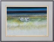 Sale 8344 - Lot 542 - Tom Gleghorn (1925 - ) - Luminous Swamp - Bool Lagoon 48 x 67cm