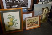 Sale 8419T - Lot 2058 - Group of (5) Assorted Artworks Including: Original Paintings and Albert Namatjira Print