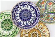 Sale 8473 - Lot 81 - Dakas Keramik Hand Made Plates From Rhodes Greece (4)