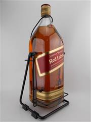 Sale 8498 - Lot 1751 - 1x Johnnie Walker Red Label Blended Scotch Whisky - 4500ml on cradle