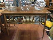 Sale 8643 - Lot 1051 - Two Tiered Vintage Coffee Table