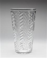 Sale 8660A - Lot 68 - An excellent quality large Art Deco hand cut lead crystal English vase by Webb Corbett, c. 1940s, H 27.5cm.