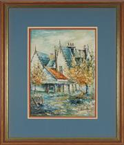 Sale 8779 - Lot 2035 - Shirley Church (1925 - 2013) - Country Mansion, 1967 39 x 29cm