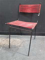 Sale 8801 - Lot 1005 - Clement Meadmore (Australian, 1929-2005) Red cord chair, designed c.1953