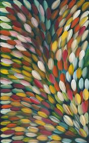 Sale 8938 - Lot 520 - Gloria Petyarre (c1945 - ) - Bush Medicine Leaves 153 x 96 cm (stretched and ready to hang)