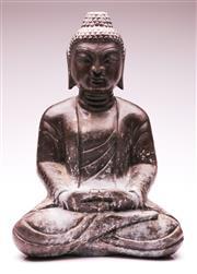 Sale 9081 - Lot 14 - Large Stone Seated Buddha (H50cm)