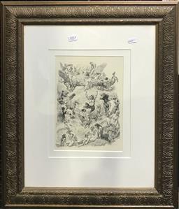 Sale 9106 - Lot 2016 - Norman Lindsay mono-photo lithograph, 64 x 53cm (frame)