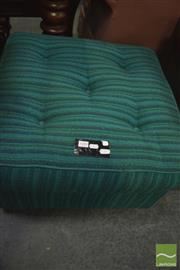 Sale 8341 - Lot 1088 - Green Upholstered Retro Ottoman