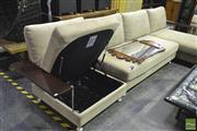 Sale 8368 - Lot 1045 - King Furniture Modular Lounge with Lift Top Seats and Ottoman