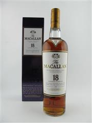 Sale 8423 - Lot 611 - 1x 1997 The Macallan 18YO Sherry Oak Cask Highland Single Malt Scotch Whisky - 43% ABV, 700ml in box