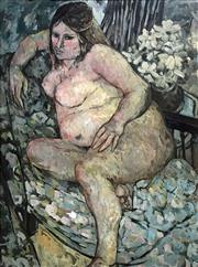 Sale 8655A - Lot 5011 - Australian School - Nude Portrait 90.5 x 66.5cm