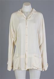 Sale 8661F - Lot 70 - A Yohji Yamamato avant-garde rayon shirt, size small, spot staining