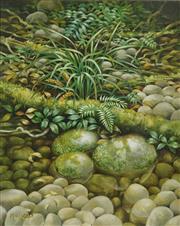Sale 8722A - Lot 5008 - Alasdair Ian McGregor (1954 - ) - By a Rainforest Creek, Werrikimbe National Park, NSW 75 x 60cm