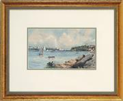 Sale 8784 - Lot 2034 - A Theobald - Sydney Harbour from Berry Island, 1930 15 x 25cm