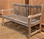 Sale 8871H - Lot 44 - A weathered teak bench, width 150cm