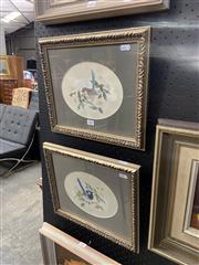 Sale 8978 - Lot 2002 - G. Carter (2 works) Wren Study I & II gouache on paper, 30 x 36 m (frames), signed